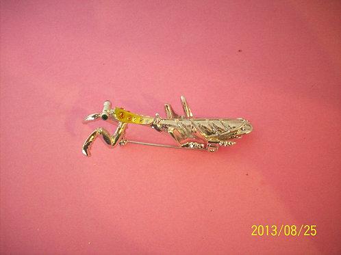 Praying mantis Topaz pin