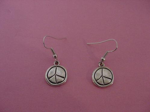 Peace Earrings baseball