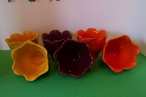 Yellow tulip vase glass - 1