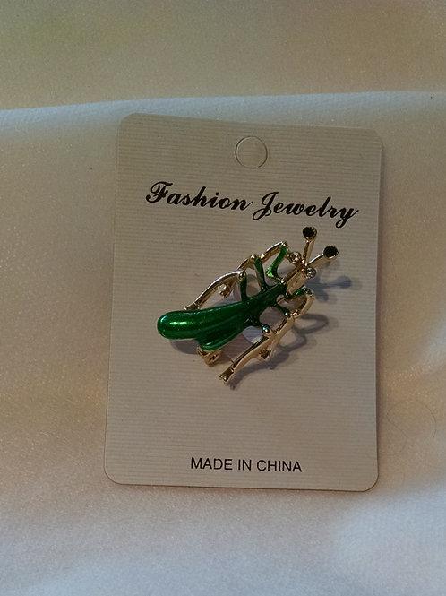 Praying mantis small broach/hat pin