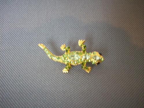 Lizard broach green
