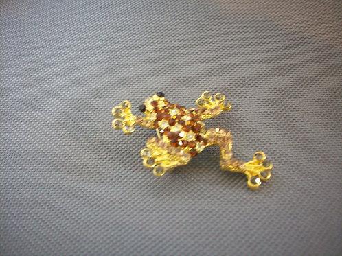 Frog broach yellow