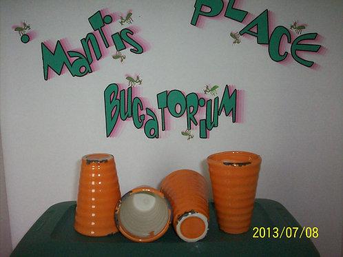 Vase, Orange pottery vase (1)
