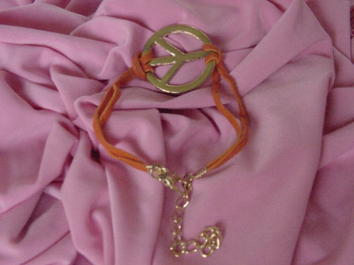 Peace bracelet Orange band