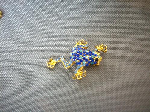 Frog broach blue