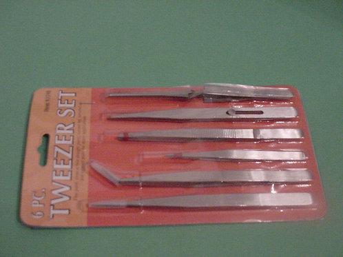 1 - 6 piece tweezer set.