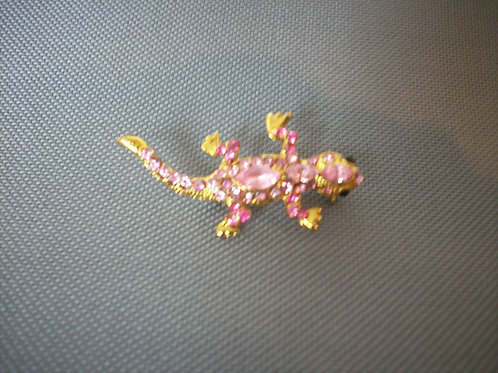 Lizard broach pink