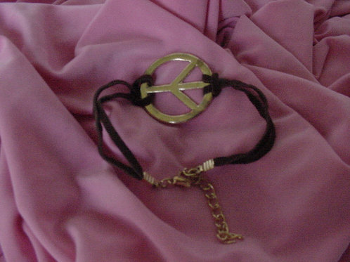 Peace bracelet Brown band