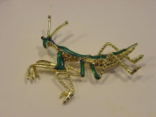 Praying mantis Gold pin NEW