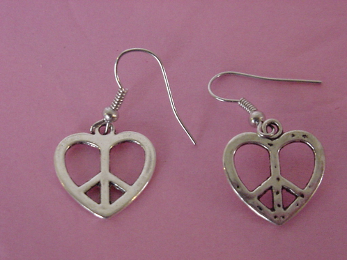 Peace Earrings heart