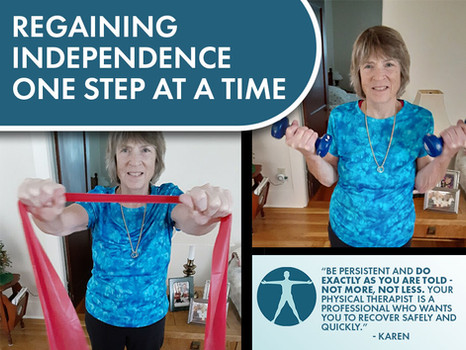 Regaining Independence One Step at a Time