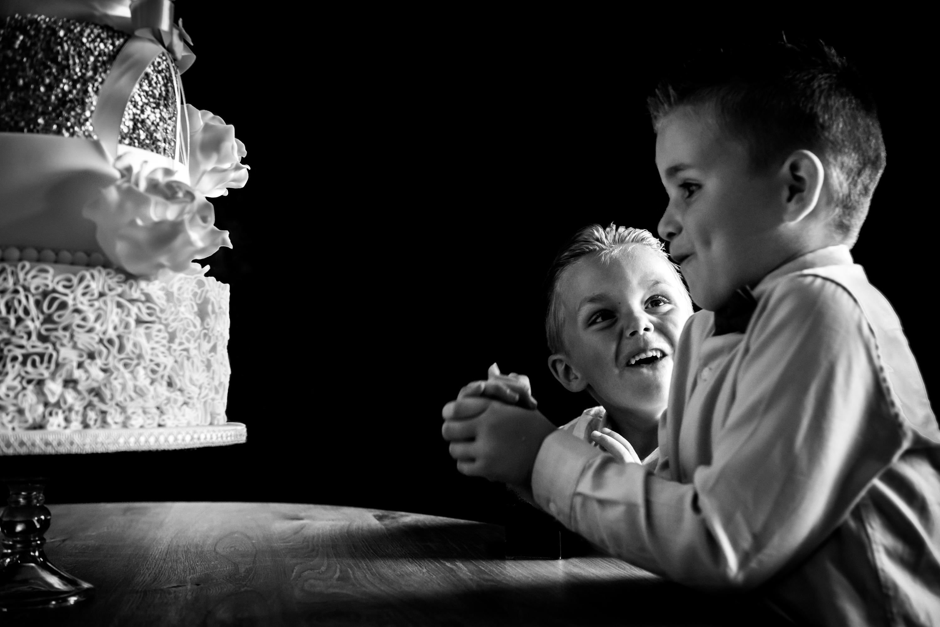 Bruiloft Linda en Ralf in zwart wit (256