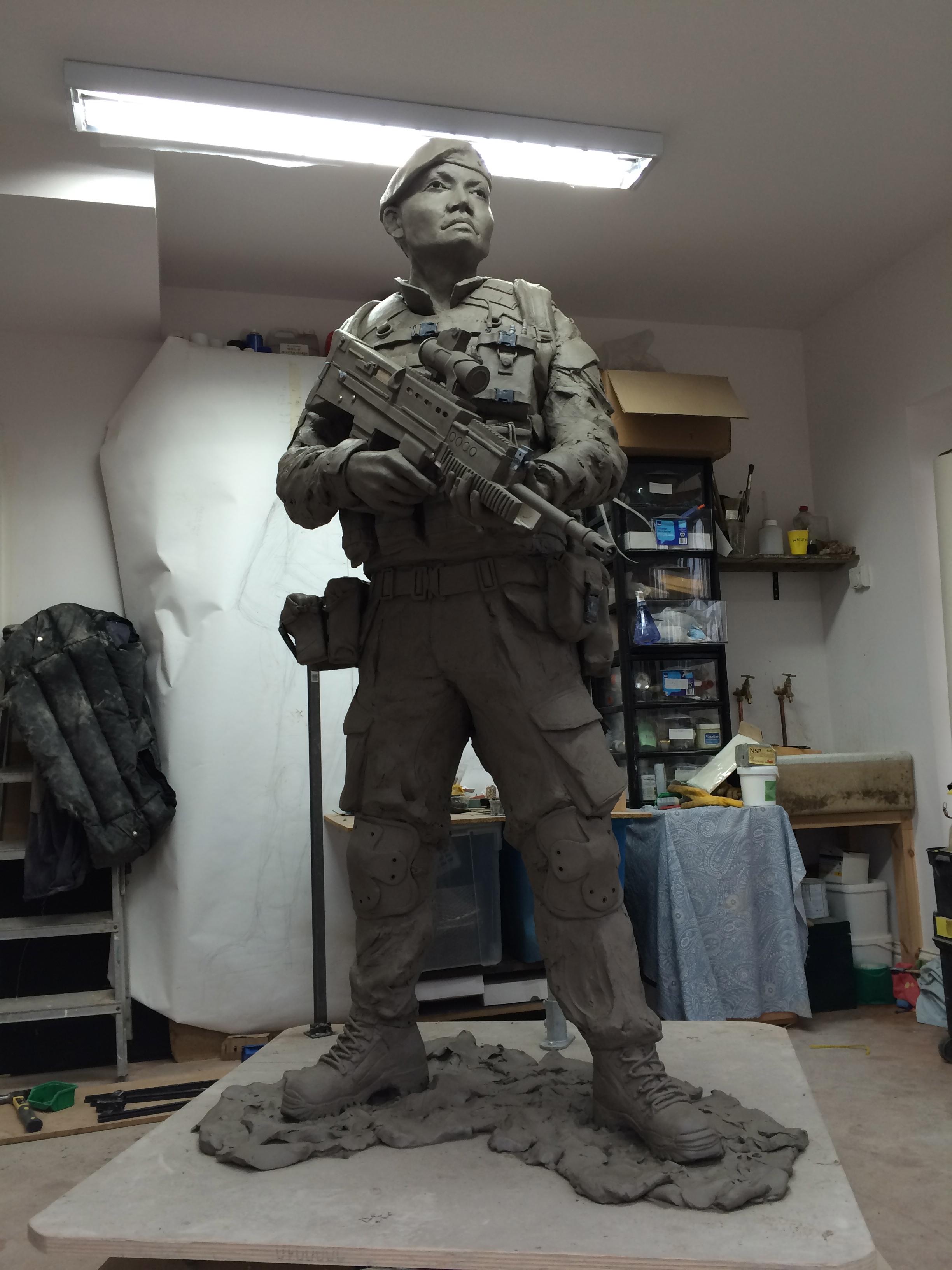 Clay model, 6ft