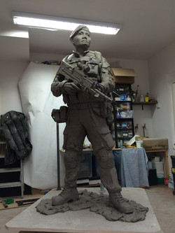 Clay model, 6ft
