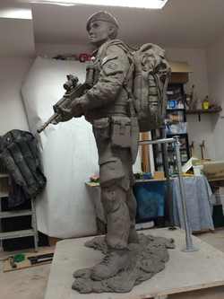 Clay model left side