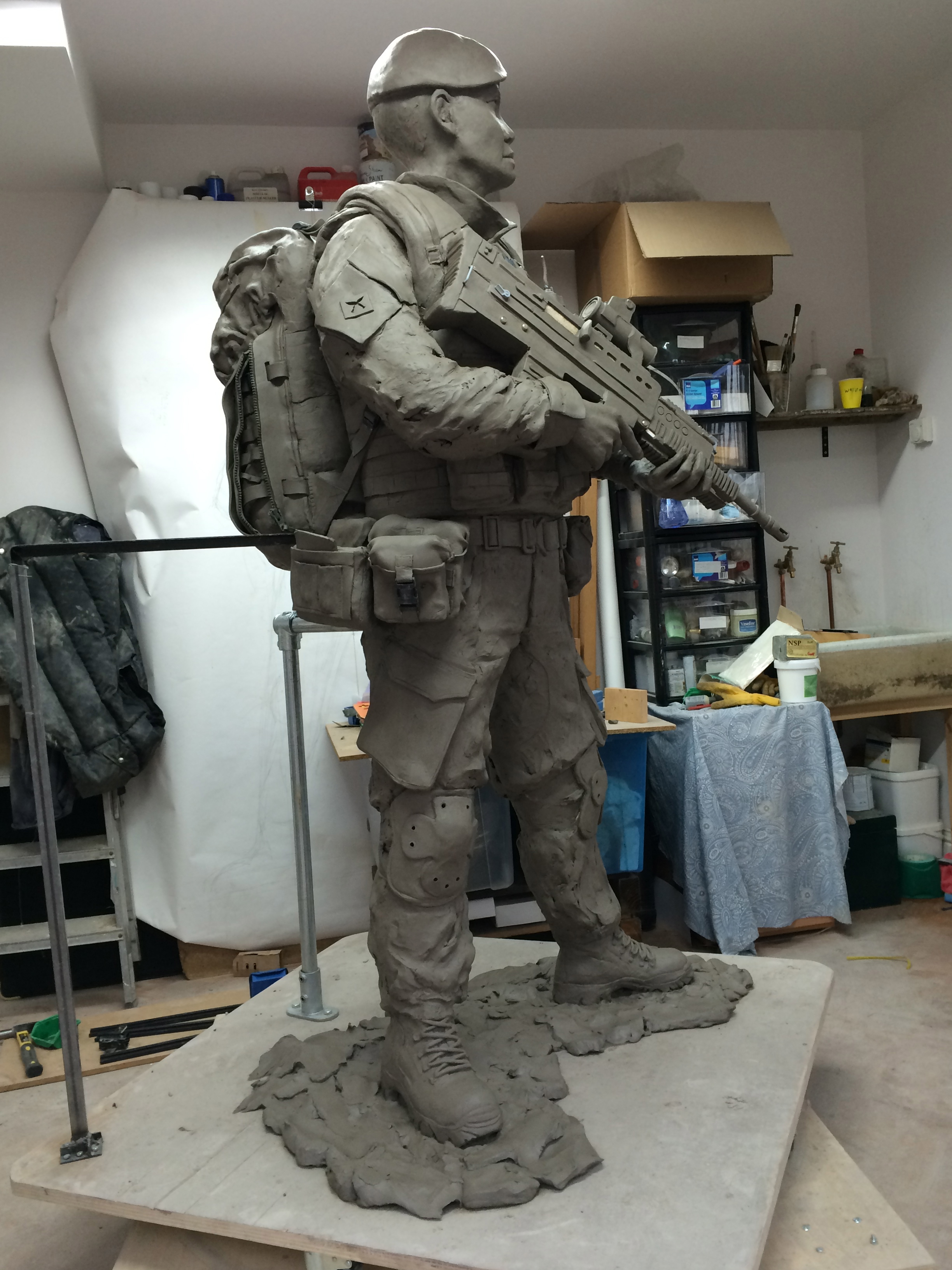 Clay model, right side.
