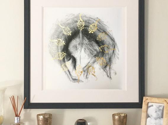 Backflip framed:gold leaf: limited editi