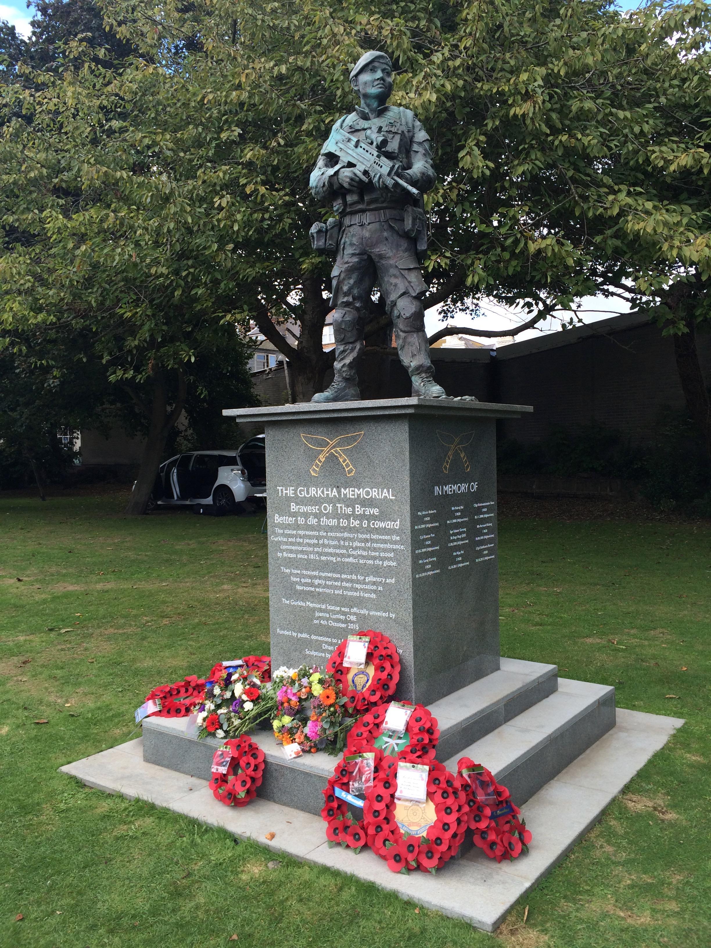 The Gurkha memorial, Folkestone.