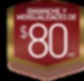 $80 de engache