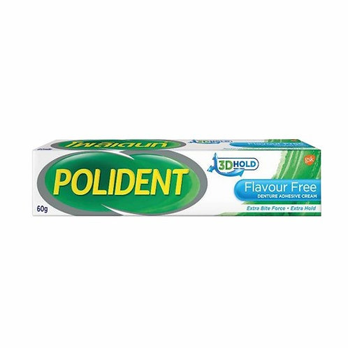 Polident Flavour Free 3D holdPolident Flavour Free 60 กรัม 3D hold
