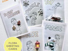 FLORA GREETING CARDS & GIFT TAGS - FREE DOWNLOAD!