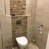 Toilet badkamer Amandel