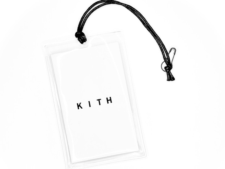 Hangtag set with transparent sleeve pouch