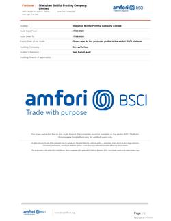 BSCI (Business Social Compliance Initiative)