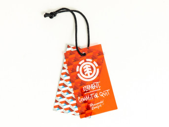 Plastic and Paper Double Hangtag