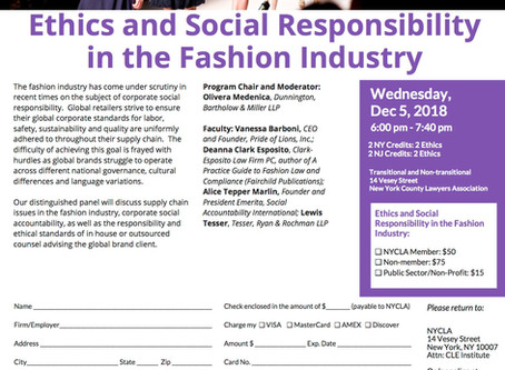 Ethics & Social Responsibility in the Fashion Industry