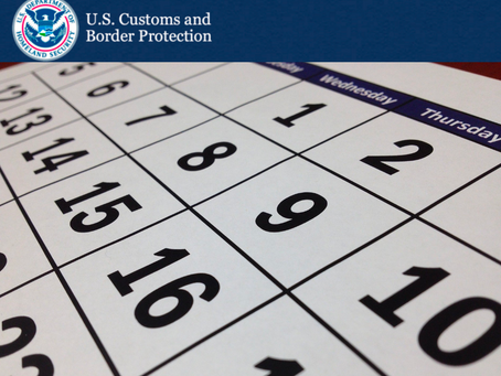 Customs Updates: January 29, 2021 Annual User Fee Federal Register Notice Due