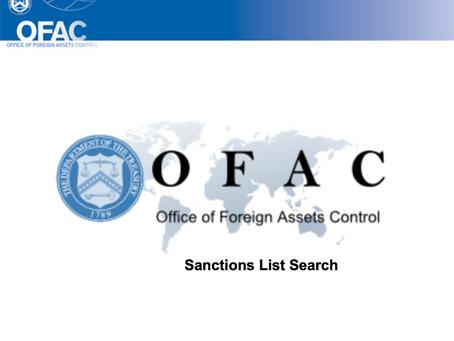 OFAC Updates Week 1/25/21