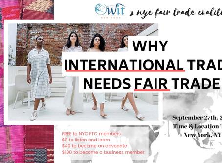 Why Does International Trade Need Fair Trade?