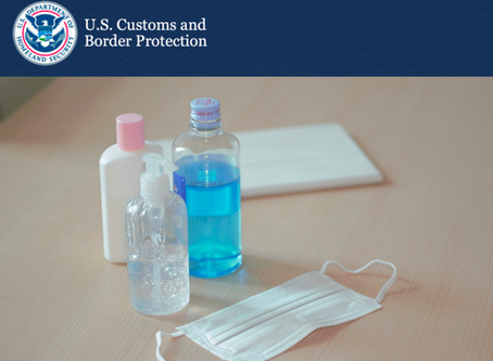 Customs Updates: Filing Entries of Hand Sanitizers for FDA