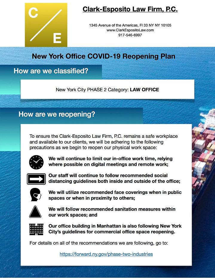 COVID-19 Clark-Esposito Law Reopening Gu
