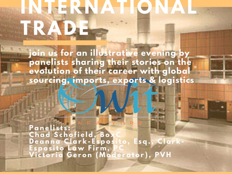 Join Deanna on 5/1 for a Panel on Growing Your Career in International Trade