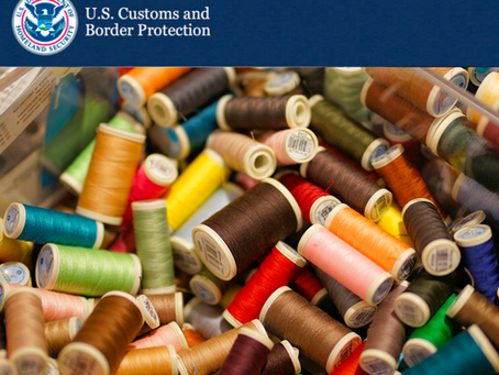 Update to Sewing Thread Requirement for Apparel Goods of Chapter 61 and 62 of the HTSUS
