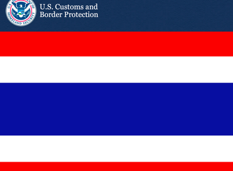 Customs Updates Suspension of $1.3 Billion Worth of Goods for Trade Preference for Thailand