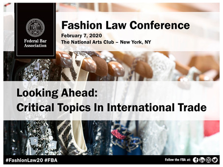 Join Deanna at the Fashion Law Conference Fri. Feb. 7th