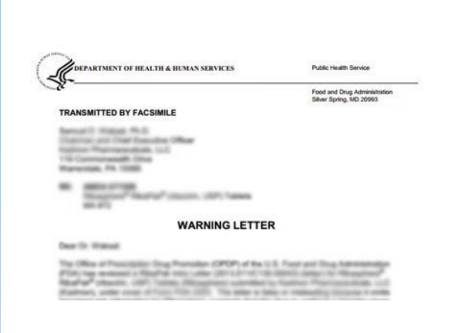Have you received an FDA Warning Letter about Sales of Tobacco or CBD Products? Take it seriously