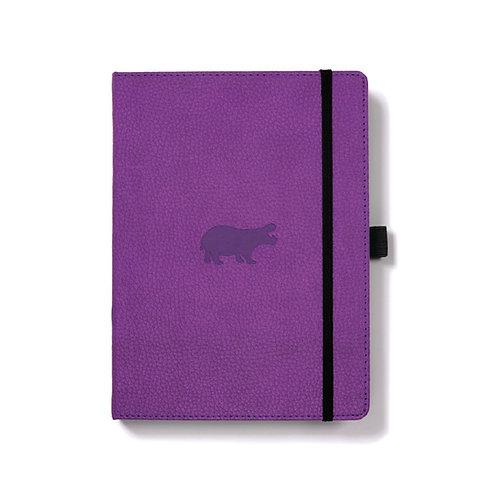 Dingbats A5+ Notizbuch [Lila/Nilpferd]