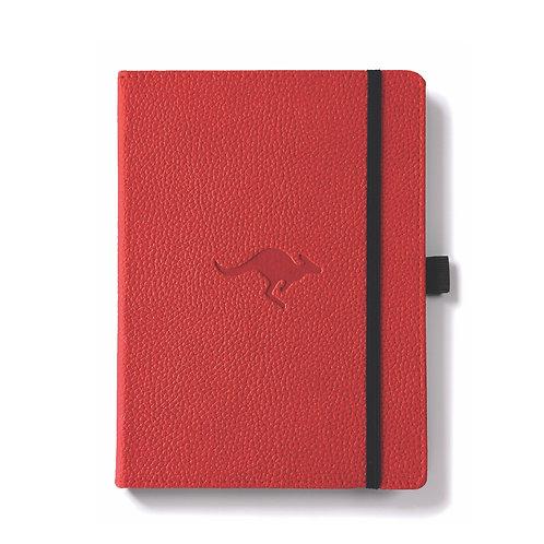Dingbats A5+ Notizbuch [Rot/Känguru]