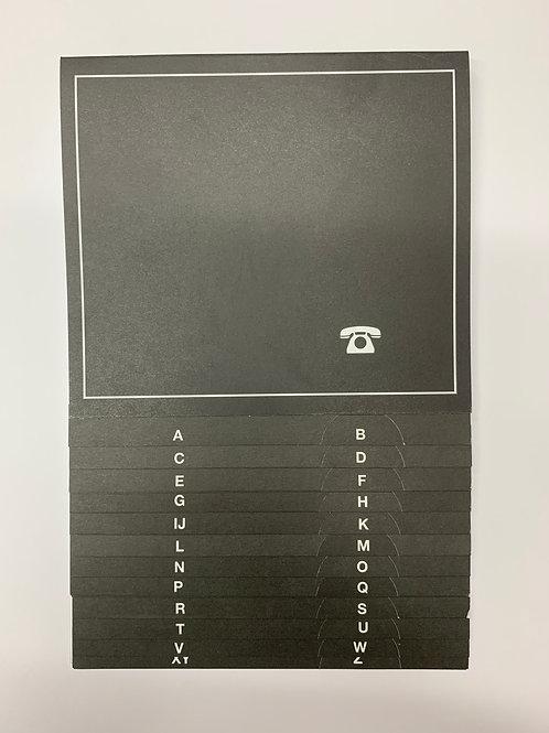 Telefonschuppenregister A-Z aus festem Karton