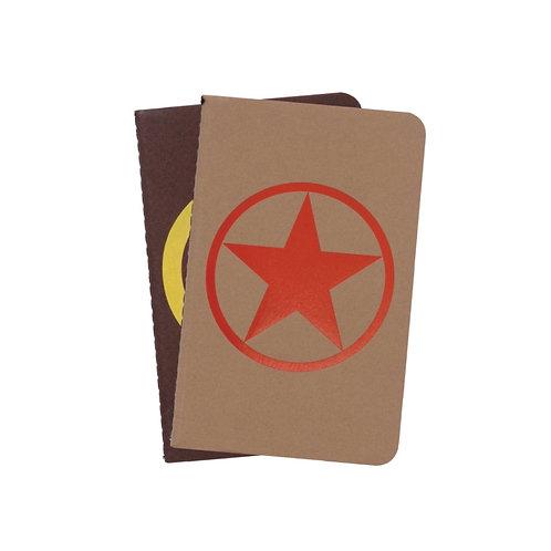 Dingbats A6 Personal Pocket Notizbuch - 2er Set [Dunkelbraun/Hellbraun]