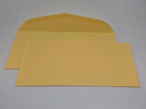 250 Briefumschläge creme nassklebend DIN Lang 90 gr. ohne Fenster