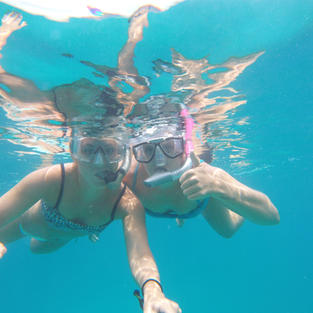 Snorkeling in the US Virgin Islands with Salty Badger Charters