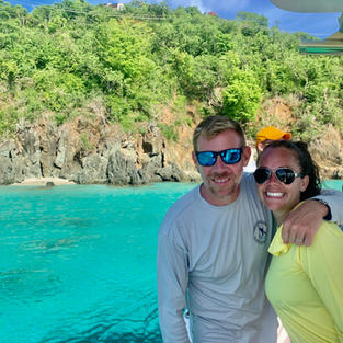 Enjoy the crystal clear blue waters of the US and British Virgin Islands with Salty Badger Charters