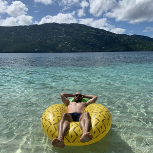 Float in the crystal clear blue water of the US and British Virgin Islands on a private day charter with Salty Badger Charters