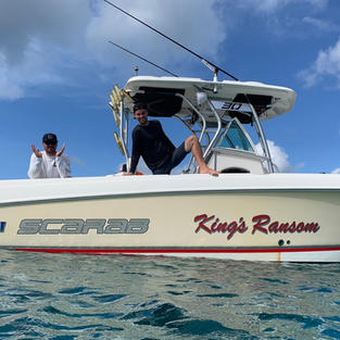 Kings Randsom, Salty Badger Charter's boat, will take you where you want to go across the US and British Virgin Islands