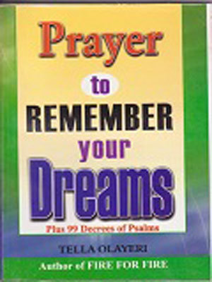 PRAYERS TO REMEMBER YOUR DREAMS